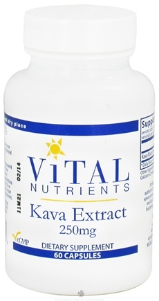DROPPED: Vital Nutrients - Kava Extract 250 mg. - 60 Capsules CLEARANCE PRICED