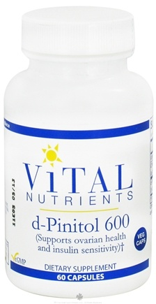DROPPED: Vital Nutrients - d-Pinitol 600 mg. - 60 Vegetarian Capsules CLEARANCE PRICED