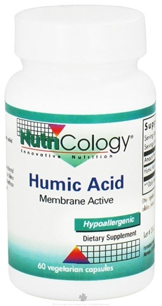 DROPPED: Nutricology - Humic Acid 750 mg. - 60 Vegetarian Capsules CLEARANCE PRICED