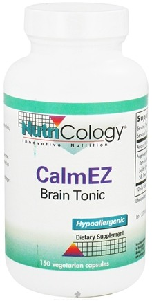 DROPPED: Nutricology - CalmEZ - 150 Vegetarian Capsules CLEARANCE PRICED