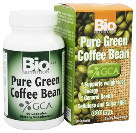Buy Bio Nutrition Pure Green Coffee Bean 800 Mg 50 Capsules