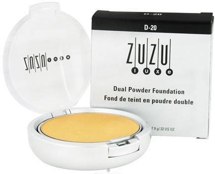 DROPPED: Zuzu Luxe - Dual Powder Foundation D-20 Light/Medium Skin - 0.32 oz. CLEARANCE PRICED