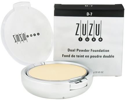 DROPPED: Zuzu Luxe - Dual Powder Foundation D-7 Paly/Ivory Skin - 0.32 oz. CLEARANCE PRICED
