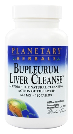 Planetary Herbals - Bupleurum Liver Cleanse 545 mg. - 150 Tablets