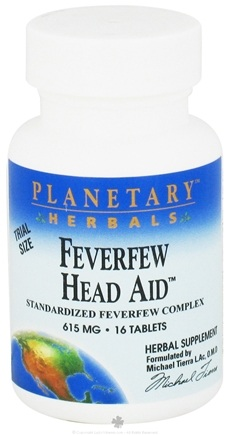 DROPPED: Planetary Herbals - Feverfew Head Aid Standardized Feverfew Complex 615 mg. - 16 Tablets