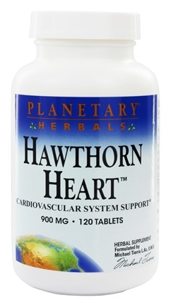 DROPPED: Planetary Herbals - Hawthorn Heart Cardiovascular System Support 900 mg. - 120 Tablets