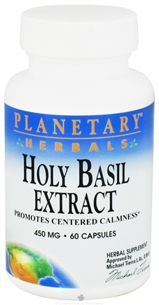 DROPPED: Planetary Herbals - Holy Basil Extract 450 mg. - 60 Capsules CLEARANCE PRICED