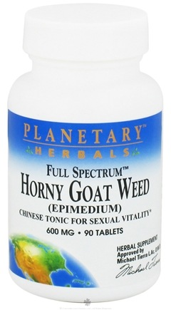DROPPED: Planetary Herbals - Horny Goat Weed Full Spectrum 600 mg. - 90 Tablets CLEARANCE PRICED