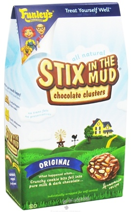 DROPPED: Funley's - All Natural Stix In The Mud Chocolate Clusters Orignal - 4.5 oz.