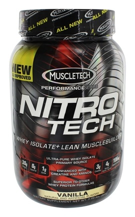 DROPPED: Muscletech Products - Nitro-Tech Performance Series Whey Isolate Vanilla - 2 lbs. CLEARANCE PRICED