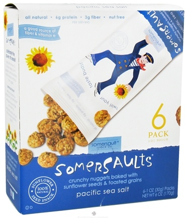 DROPPED: Somersaults - Crunchy Nuggets Sunflower Seed Snack Packs Pacific Sea Salt - 6 Pack(s)