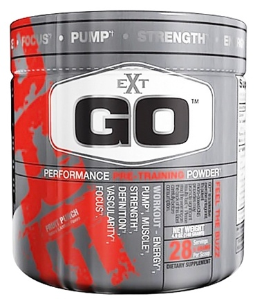 DROPPED: EXT Sports - Go Performance Pre-Training Powder Fruit Punch - 4.9 oz. CLEARANCE PRICED