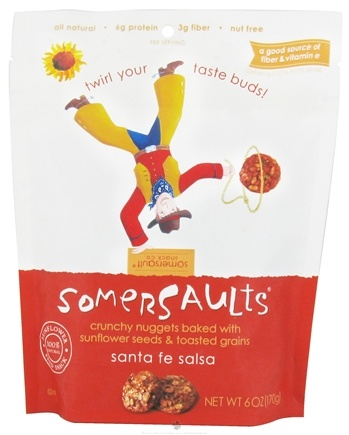 DROPPED: Somersaults - Crunchy Nuggets Sunflower Seed Snacks Santa Fe Salsa - 6 oz.