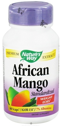 DROPPED: Nature's Way - African Mango - 60 Vegetarian Capsules