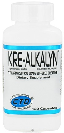 DROPPED: CTD Labs - Kre-Alkalyn Pharmacutical Grade Buffered Creatine - 120 Capsules CLEARANCE PRICED