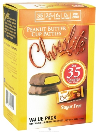 DROPPED: Healthsmart Foods - Chocolite Sugar Free Peanut Butter Cup Patties Value Pack - 6 Pack(s)