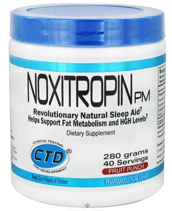 DROPPED: CTD Labs - Noxitropin PM 40 Servings Fruit Punch - 280 Grams CLEARANCE PRICED