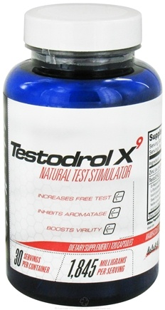 DROPPED: Lecheek Nutrition - Testodrol X9 Natural Test Stimulator - 120 Capsules CLEARANCE PRICED