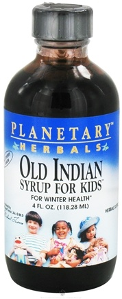 DROPPED: Planetary Herbals - Old Indian Syrup For Kids Cherry - 4 oz.