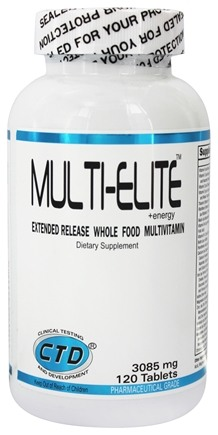 DROPPED: CTD Labs - Multi-Elite Extended Release Whole Food Multivitamin 3085 mg. - 120 Capsules