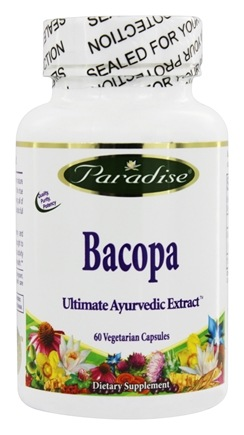 Paradise Herbs - Bacopa 20:1 Concentrated Potency - 60 Vegetarian Capsules