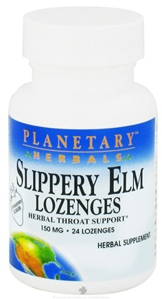 DROPPED: Planetary Herbals - Slippery Elm Lozenges Strawberry Flavor 150 mg. - 24 Lozenges