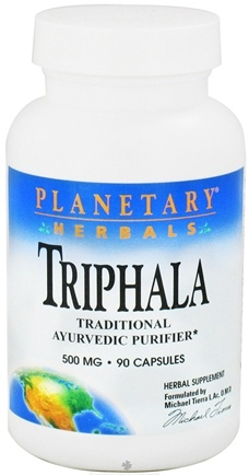 DROPPED: Planetary Herbals - Triphala Ayurvedic Purifier 500 mg. - 90 Capsules CLEARANCE PRICED