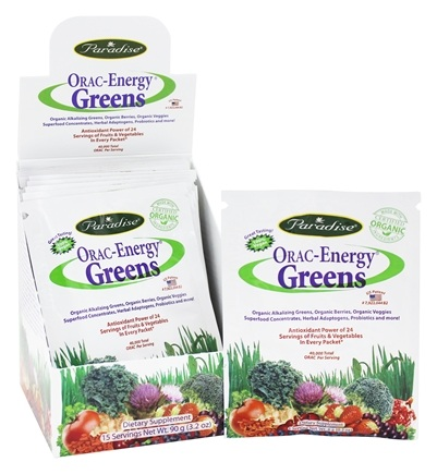 Paradise Herbs - Orac-Energy Greens 15 x 6g Packets