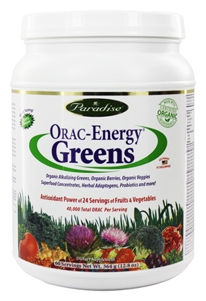 Paradise Herbs - Orac-Energy Greens Original - 12.8 oz.