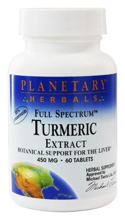 Planetary Herbals - Turmeric Extract Full Spectrum 450 mg. - 60 Tablets