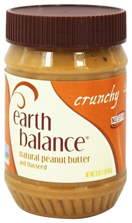 DROPPED: Earth Balance - Natural Peanut Butter and Flaxseed Crunchy - 16 oz.
