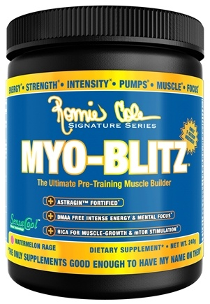 DROPPED: Ronnie Coleman Signature Series - Myo-Blitz Ultimate Pre-Training Muscle Builder Watermelon Rage - 240 Grams CLEARANCE PRICED