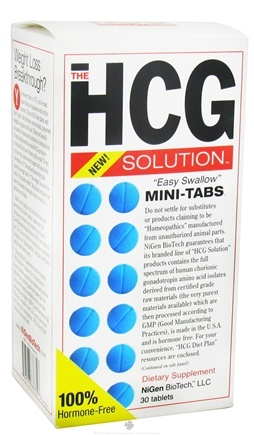 DROPPED: NiGen BioTech - HCG Solution Hormone Free Easy Swallow - 30 Mini-Tab(s)
