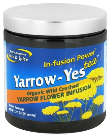 DROPPED: North American Herb & Spice - Yarrow-Yes Infusion Power Tea - 2.5 oz. CLEARANCE PRICED