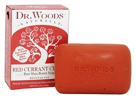 Dr. Woods - 100% Natural Bar Soap with Fair Trade Organic Shea Butter Red Currant Clove - 5.25 oz.