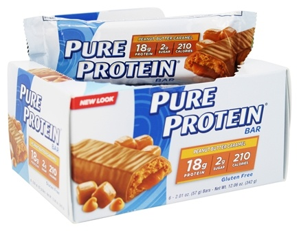 Pure Protein - Protein Bar Peanut Butter Caramel - 6 Bars