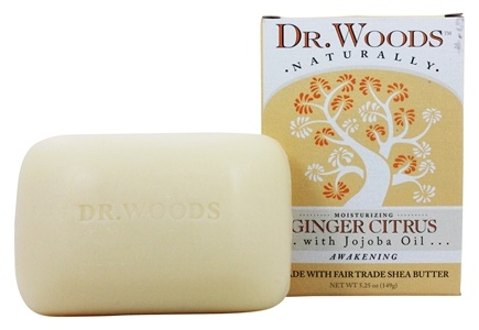 Dr. Woods - Awakening Castile Bar Soap Ginger Citrus - 5.25 oz.