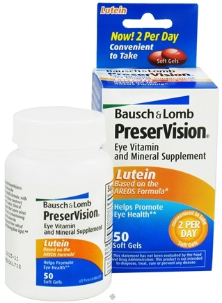 DROPPED: Bausch & Lomb - PreserVision AREDS Formula with Lutein - 50 Softgels