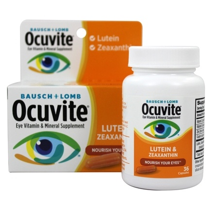 Bausch & Lomb - Ocuvite with Lutein and Zeaxanthin - 36 Capsules
