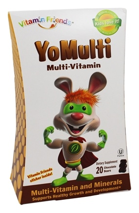 Vitamin Friends - YoMulti Multi-Vitamin Chocolate Bears - 20 Gummies