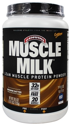 DROPPED: Cytosport - Muscle Milk Genuine Nature's Ultimate Lean Muscle Protein Brownie Batter - 2.47 lbs.