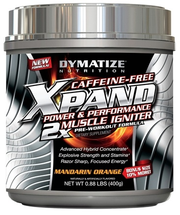 DROPPED: Dymatize Nutrition - Xpand 2x Muscle Igniter Caffeine-Free Pre-Workout Formula Bonus Size 10% More Mandarin Orange - 0.88 lbs. CLEARANCE PRICED