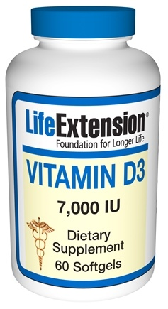 DROPPED: Life Extension - Vitamin D3 7000 IU - 60 Softgels CLEARANCE PRICED