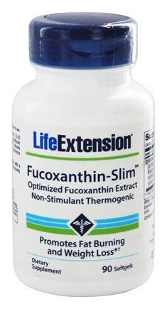 DROPPED: Life Extension - Fucoxanthin-Slim Non-Stimulant Thermogenic - 90 Softgels