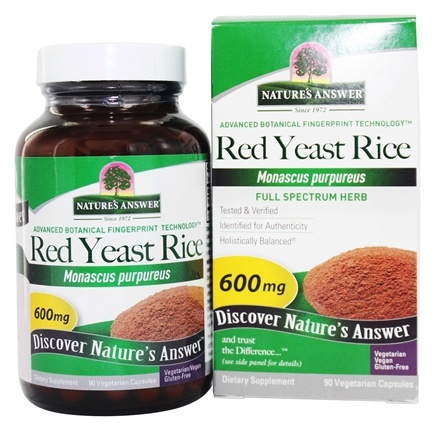 Nature's Answer - Red Yeast Rice Dietary Supplement - 90 Capsules