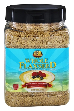 Premium Gold Flax Products - 100% Natural Golden Whole Flaxseed - 26 oz.