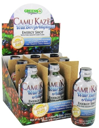 DROPPED: Greens Plus - Camu Kaze Energy Shot with Pure Amazon Camu Camu Wild Berry Adaptogen - 4 oz.