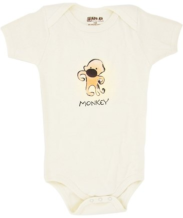 Zoom View - 100% Organic Cotton Short Sleeve BodySuit With Wearable Greetings Gift Box