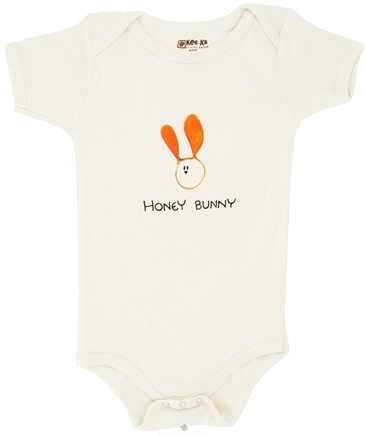 DROPPED: Kee-Ka - 100% Organic Cotton Short Sleeve BodySuit With Wearable Greetings Gift Box Honey Bunny 6-12 Months - CLEARANCE PRICED