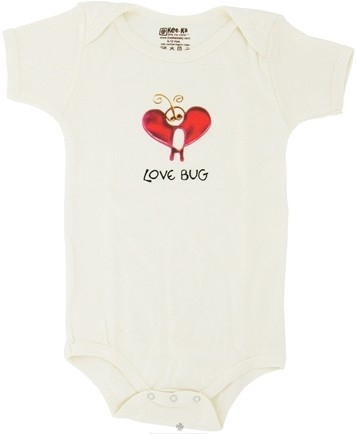 DROPPED: Kee-Ka - 100% Organic Cotton Short Sleeve BodySuit With Wearable Greetings Gift Box Love Bug 6-12 Months - CLEARANCE PRICED